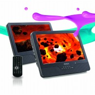 DVD PORTATIL DOBLE PANTALLA 9""