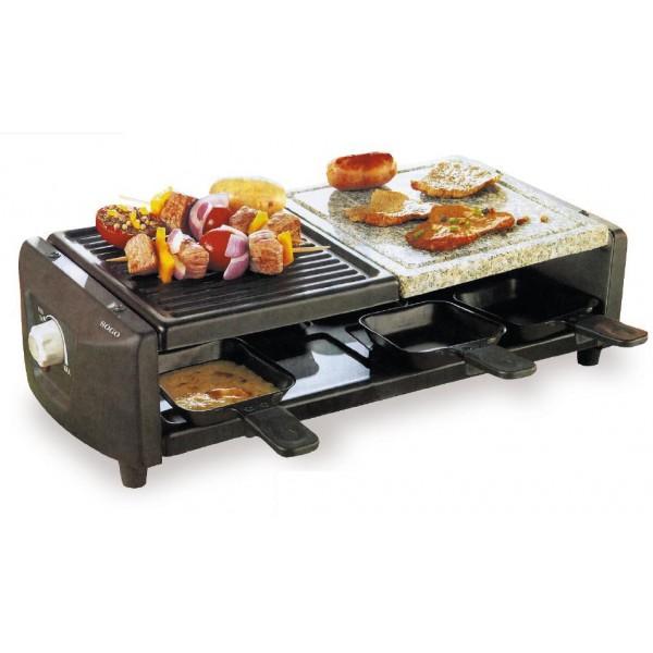 Grill cocina carne a la piedra raclette sogo ss1299 for Plancha electrica cocina